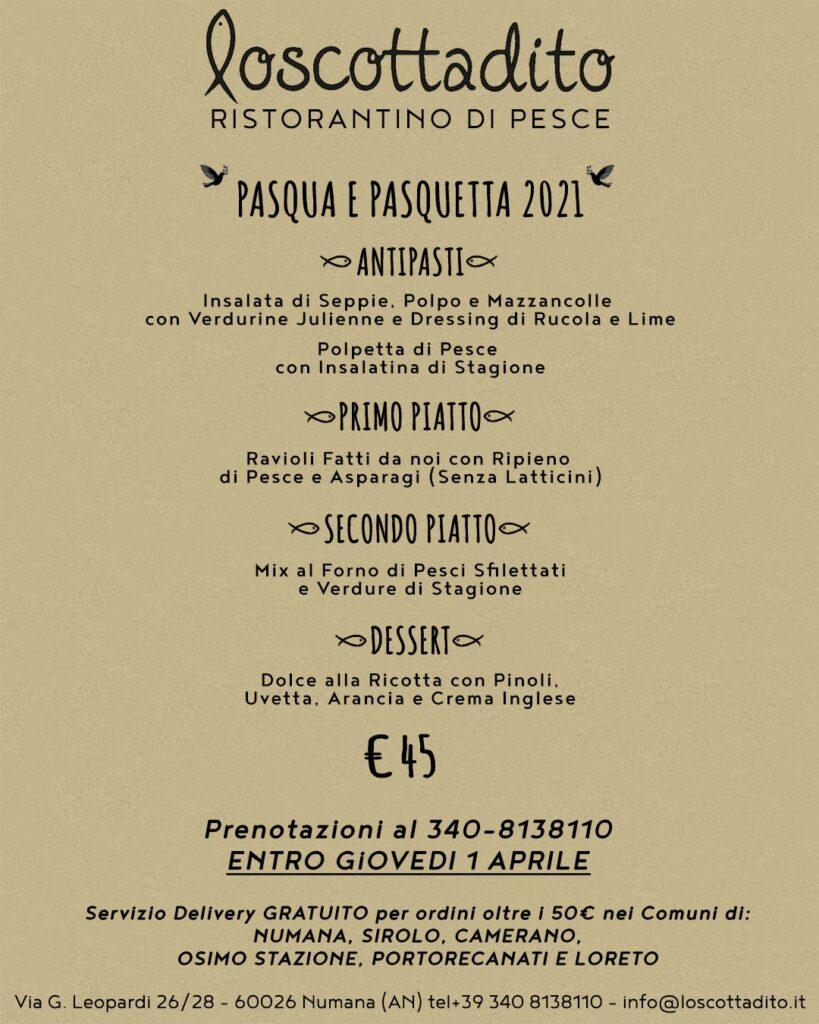 Menù Pasqua 20121